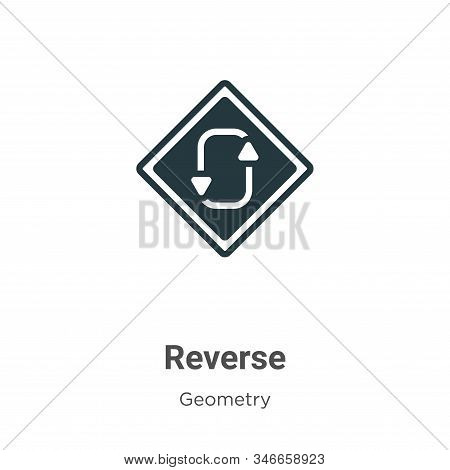 Reverse icon isolated on white background from geometry collection. Reverse icon trendy and modern R