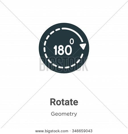 Rotate icon isolated on white background from geometry collection. Rotate icon trendy and modern Rot