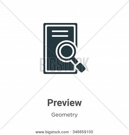 Preview icon isolated on white background from geometry collection. Preview icon trendy and modern P