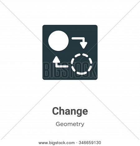 Change icon isolated on white background from geometry collection. Change icon trendy and modern Cha