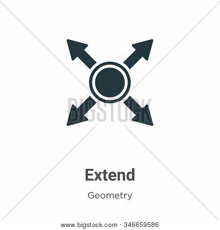 Extend icon isolated on white background from geometry collection. Extend icon trendy and modern Ext