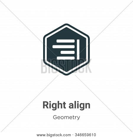 Right align icon isolated on white background from geometry collection. Right align icon trendy and