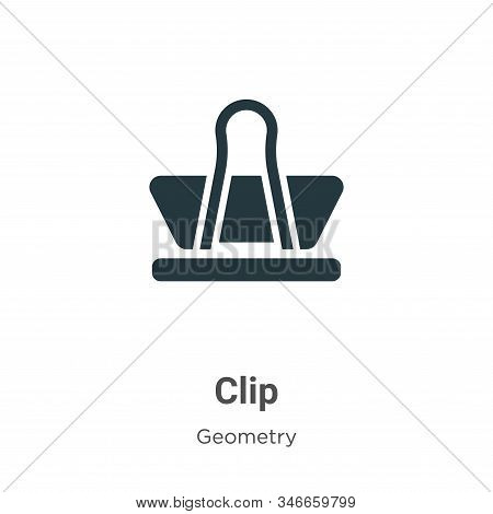 Clip icon isolated on white background from geometry collection. Clip icon trendy and modern Clip sy