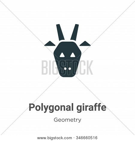 Polygonal giraffe icon isolated on white background from geometry collection. Polygonal giraffe icon