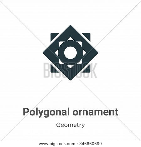 Polygonal ornament icon isolated on white background from geometry collection. Polygonal ornament ic