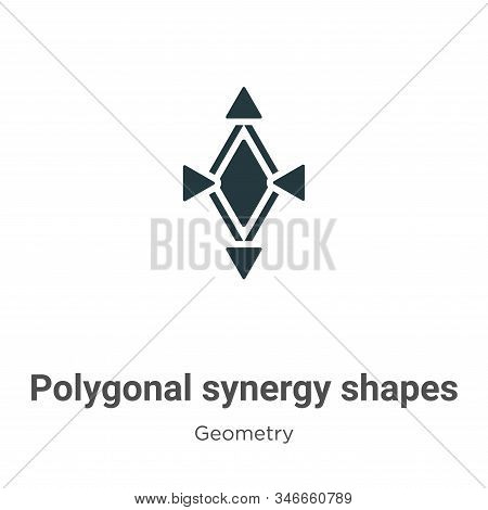 Polygonal synergy shapes icon isolated on white background from geometry collection. Polygonal syner