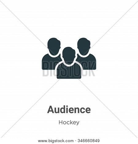 Audience icon isolated on white background from hockey collection. Audience icon trendy and modern A