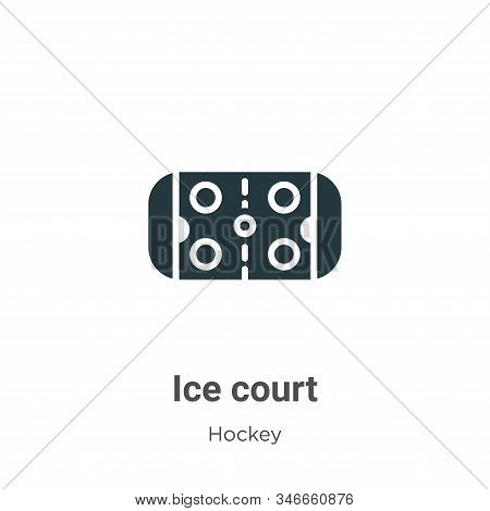 Ice court icon isolated on white background from hockey collection. Ice court icon trendy and modern