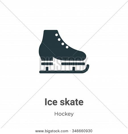 Ice skate icon isolated on white background from hockey collection. Ice skate icon trendy and modern