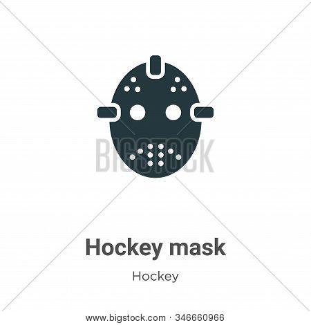 Hockey mask icon isolated on white background from hockey collection. Hockey mask icon trendy and mo