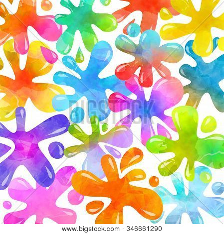 A Vibrant And Colorful Ink Splash Background.