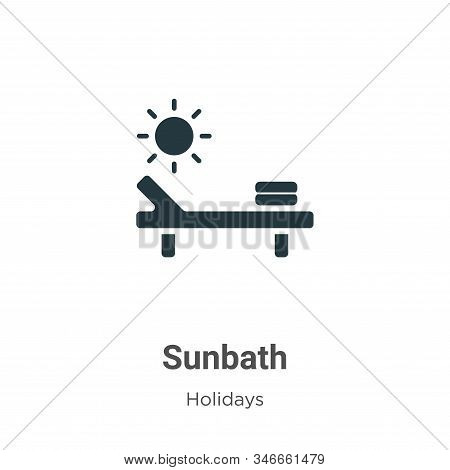 Sunbath icon isolated on white background from holidays collection. Sunbath icon trendy and modern S