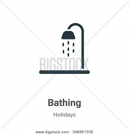 Bathing icon isolated on white background from holidays collection. Bathing icon trendy and modern B