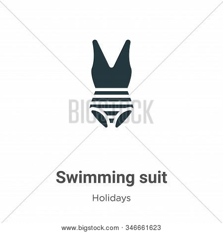 Swimming suit icon isolated on white background from holidays collection. Swimming suit icon trendy
