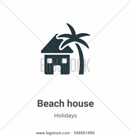 Beach house icon isolated on white background from holidays collection. Beach house icon trendy and