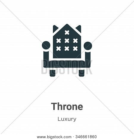 Throne icon isolated on white background from luxury collection. Throne icon trendy and modern Thron