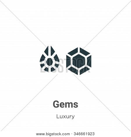 Gems icon isolated on white background from luxury collection. Gems icon trendy and modern Gems symb