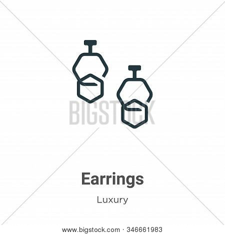 Earrings Glyph Icon Vector On White Background. Flat Vector Earrings Icon Symbol Sign From Modern Lu