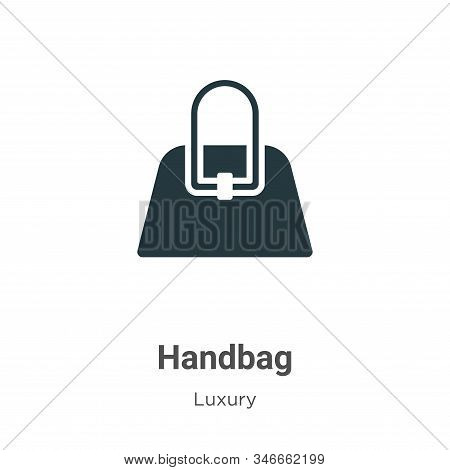 Handbag icon isolated on white background from luxury collection. Handbag icon trendy and modern Han