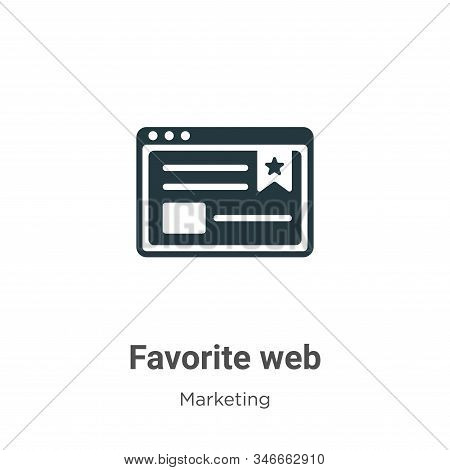 Favorite web icon isolated on white background from marketing collection. Favorite web icon trendy a