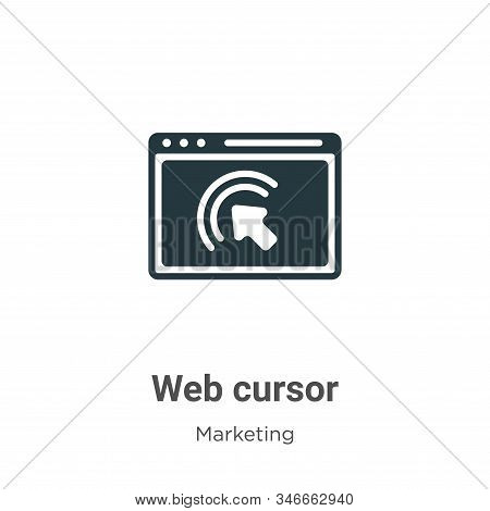 Web cursor icon isolated on white background from marketing collection. Web cursor icon trendy and m