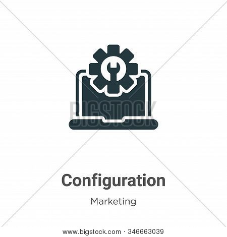 Configuration icon isolated on white background from marketing collection. Configuration icon trendy