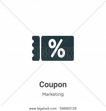 Coupon icon isolated on white background from marketing collection. Coupon icon trendy and modern Co