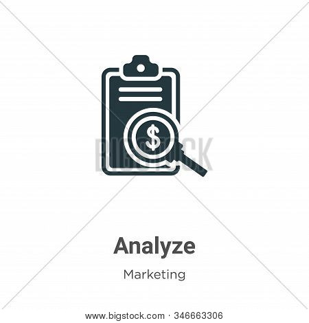 Analyze icon isolated on white background from marketing collection. Analyze icon trendy and modern