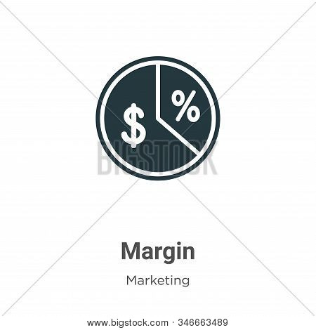 Margin icon isolated on white background from marketing collection. Margin icon trendy and modern Ma