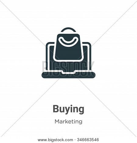 Buying icon isolated on white background from marketing collection. Buying icon trendy and modern Bu