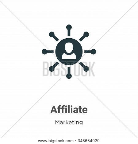 Affiliate icon isolated on white background from marketing collection. Affiliate icon trendy and mod