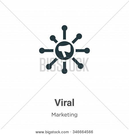 Viral icon isolated on white background from marketing collection. Viral icon trendy and modern Vira