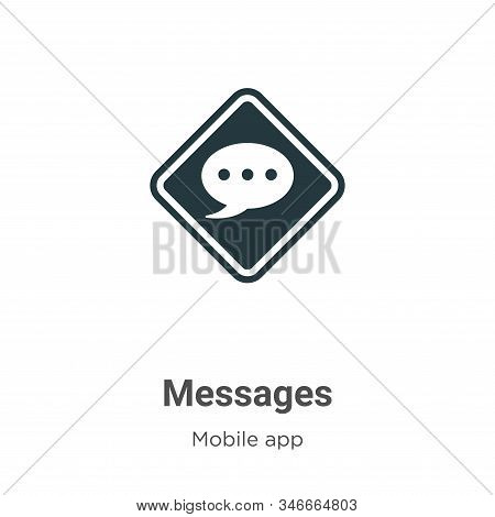 Messages icon isolated on white background from mobile app collection. Messages icon trendy and mode