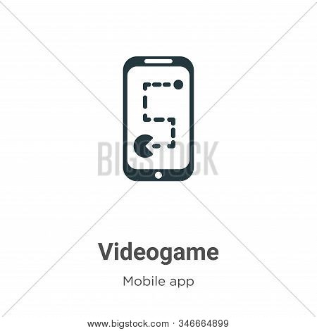 Videogame icon isolated on white background from mobile app collection. Videogame icon trendy and mo