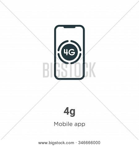 4g icon isolated on white background from mobile app collection. 4g icon trendy and modern 4g symbol