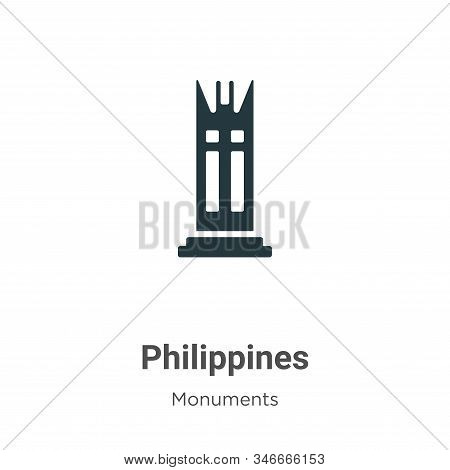 Philippines icon isolated on white background from monuments collection. Philippines icon trendy and