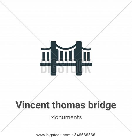 Vincent thomas bridge icon isolated on white background from monuments collection. Vincent thomas br