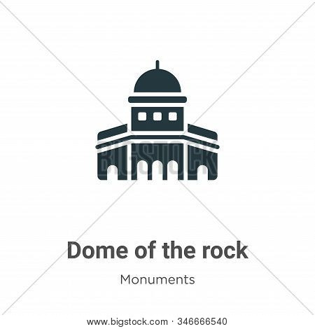 Dome of the rock icon isolated on white background from monuments collection. Dome of the rock icon