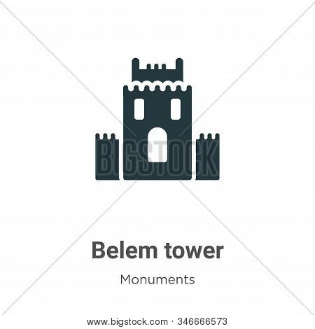 Belem tower icon isolated on white background from monuments collection. Belem tower icon trendy and