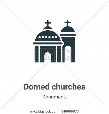 Blue domed churches icon isolated on white background from monuments collection. Blue domed churches