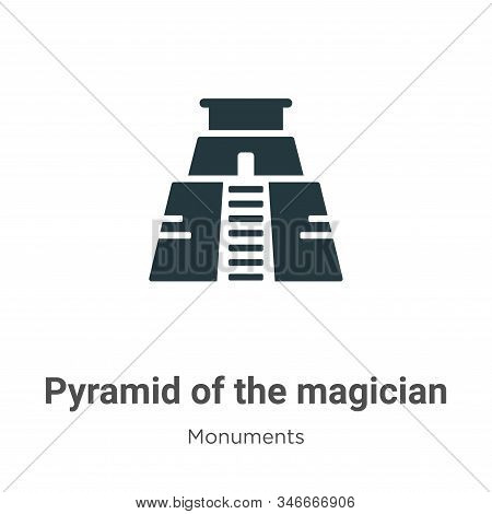 Pyramid of the magician icon isolated on white background from monuments collection. Pyramid of the