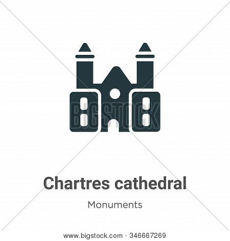 Chartres cathedral icon isolated on white background from monuments collection. Chartres cathedral i
