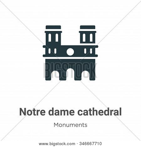 Notre dame cathedral icon isolated on white background from monuments collection. Notre dame cathedr