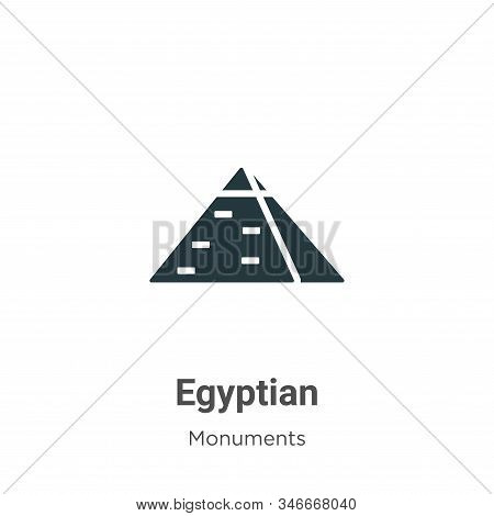 Egyptian icon isolated on white background from monuments collection. Egyptian icon trendy and moder