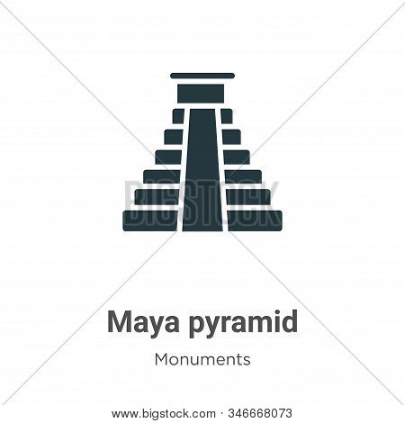 Maya pyramid icon isolated on white background from monuments collection. Maya pyramid icon trendy a