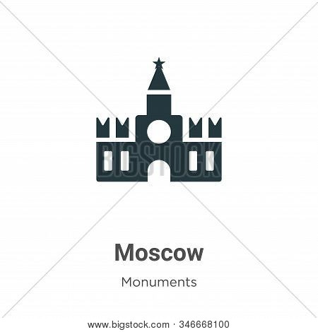 Moscow icon isolated on white background from monuments collection. Moscow icon trendy and modern Mo
