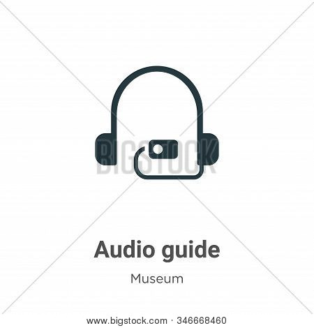 Audio guide icon isolated on white background from museum collection. Audio guide icon trendy and mo