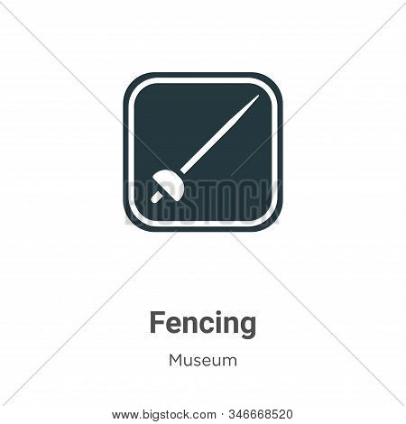 Fencing icon isolated on white background from museum collection. Fencing icon trendy and modern Fen