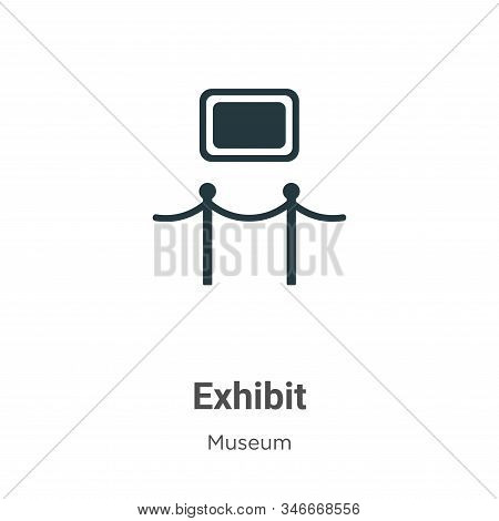 Exhibit icon isolated on white background from museum collection. Exhibit icon trendy and modern Exh