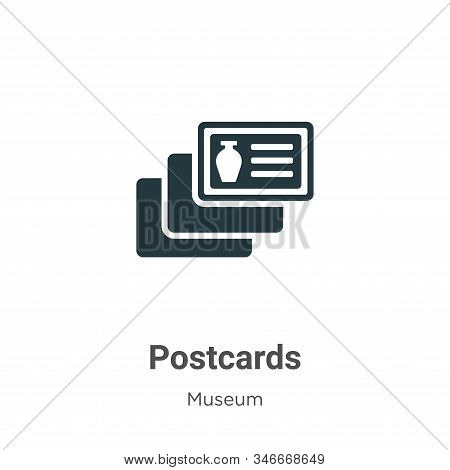 Postcards icon isolated on white background from museum collection. Postcards icon trendy and modern